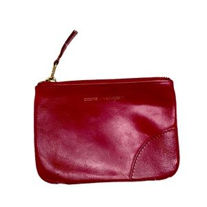 Comme des Garcons Small Red Leather Coin Purse